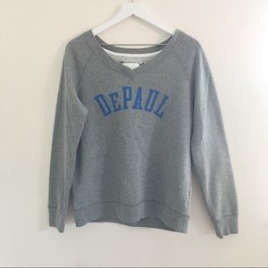 Tops - DePaul University sweatshirt | L
